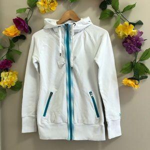 ORB Activewear White Zip Up Hoodie/ Jacket
